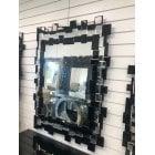 Skittle black small mirror 88 x 123cm