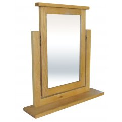 Hudson solid oak trinket mirror