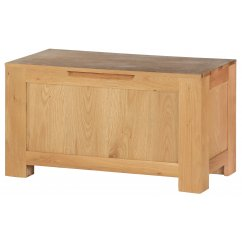 Hudson solid oak blanket box