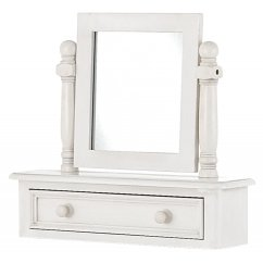 Bella painted white trinket mirror