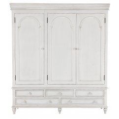 Bella painted white triple wardobe with 5 drawers