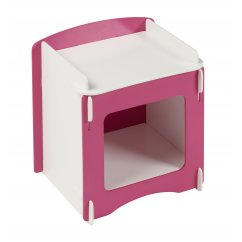 Blush pink and white girls bedside cabinet