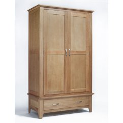 Sherwood light oak 2 door/1 drawer wardobe
