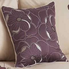 "Dauphine heather 17"" filled cushion cover"