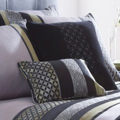 Newton black boudoir cushion