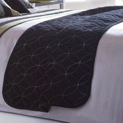 Newton black bed runner