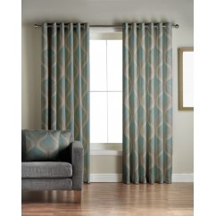 Cyrus teal readymade eyelet curtains