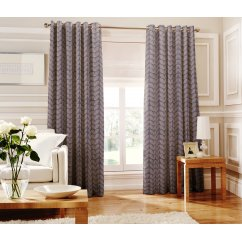 Loretta denim readymade eyelet curtains