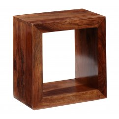Cube sheesham single hole cube