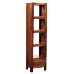 Cube sheesham slim bookcase