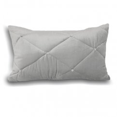Diamond silver 30cm x 50cm filled cushion