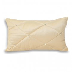 Diamond cream 30cm x 50cm filled cushion