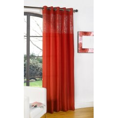 "Glamour red single silk voile panel 55""x 90"""