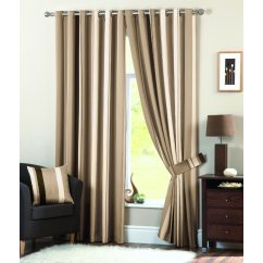 Whitworth natural readymade eyelet curtains