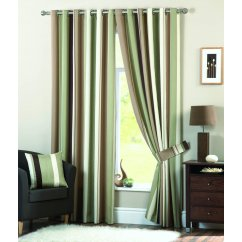 Whitworth green readymade eyelet curtains