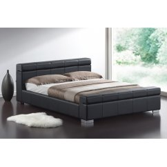 Durham black faux leather bed