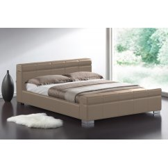 Durham stone faux leather bed