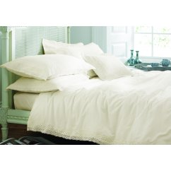 Chantilly ivory lace duvet cover
