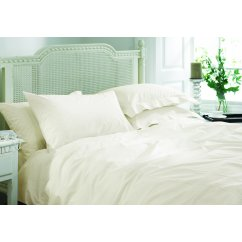 Rimini ivory hand stitched duvet cover