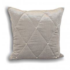 Diamante silver velvet cushion cover, 45cm