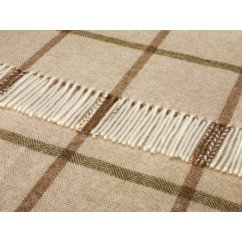Windowpane natural shetland 140cm x 185cm pure new wool throw