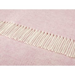 Variegated herringbone pink heather shetland 140cm x cm pure new wool throw