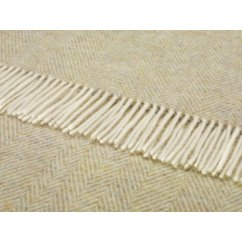 Variegated herringbone sage shetland 140cm x cm pure new wool throw
