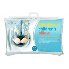 Spundown childrens 100% cotton filled synthetic pillow