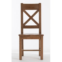 bretagne cross back wooden seat chair