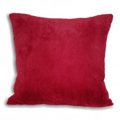 zermatt fuschia pink tartan check & fur 43cm x 43cm feather filled cushion