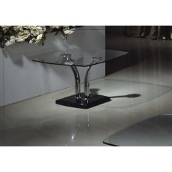 Bali clear glass lamp table
