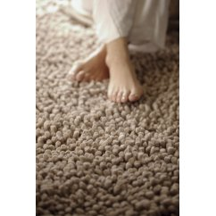 Maine biscuit hand woven 100% pure wool rug