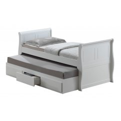 Oasis white guest bed with storage drawer