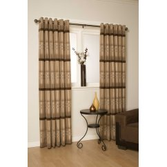 Franklin natural eyelet readymade curtains