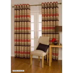 Franklin rouge eyelet readymade curtains