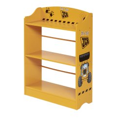 JCB yellow painted boys bookcase