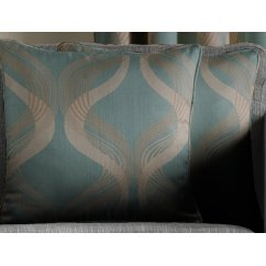 Cyrus teal cushion cover, 58cm