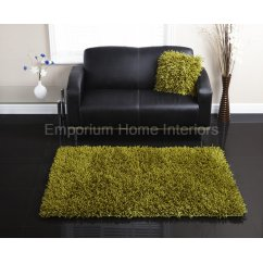 Embassy lime handwoven 100% polyester rug