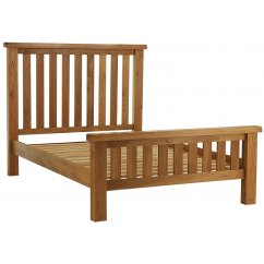 Montreux solid oak slatted bedframe