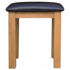 Montreux oak faux leather dressing stool