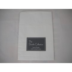 Exclusive premium quality wihite herringbone 100% combed cotton housewife pillowcase