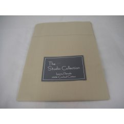 Exclusive premium quality taupe herringbone 100% combed cotton housewife pillowcase