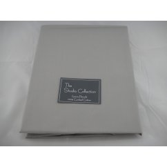 Exclusive premium quality silver herringbone 100% combed cotton fitted sheet