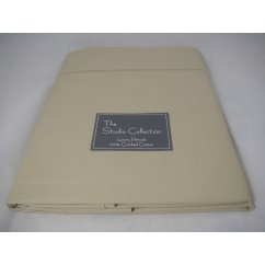 Exclusive premium quality taupe herringbone 100% combed cotton fitted sheet