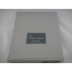 Exclusive premium quality silver herringbone 100% combed cotton flat sheet