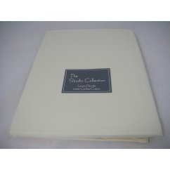 Exclusive premium quality ivory herringbone 100% combed cotton flat sheet