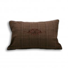 Courcheval brown tartan check cushion cover, 40cm x 60cm