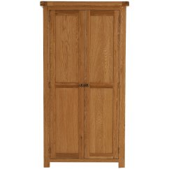 Montreux solid oak standard 2 door wardrobe