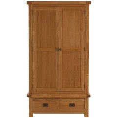 Montreux solid oak 2 door 2 drawer wardrobe