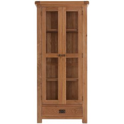 Montreux solid oak glazed display cabinet